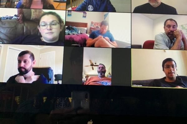 Boye Team using Zoom Meeting online to meet during COVID-19 Outbreak