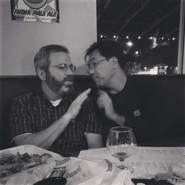 Jim and Sanford talking